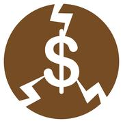 Stock Illustration of Financial Crash Icon from Commerce Set