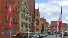 Historic City, Dinkelsbuhl, Germany Stock Footage