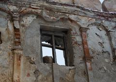 Ruin window Stock Photos
