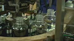 Ink bottling conveyor Stock Footage