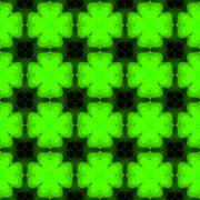 Abstract symmetric green shamrock texture made seamless Stock Illustration