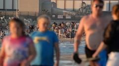 A beach is in city Ashdod Stock Footage