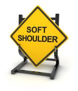 Road sign - soft shoulder Stock Illustration