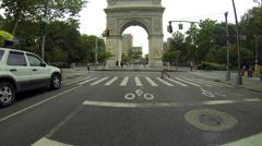 Washington Square Park Arch HD Stock Footage
