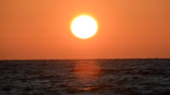 Sunset of a sun above Mediterranean Stock Footage