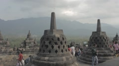 Ied holiday at Borobudur temple Stock Footage