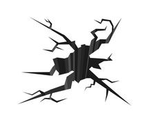 Cracked ground - stock illustration