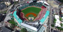 Overhead Shot of Fenway Park in 4k Stock Footage