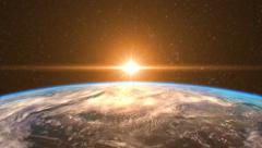 Highly Detailed Sunrise Over the Earth - stock footage