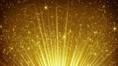 Rising gold particles in light rays loopable 4k (4096x2304) Stock Footage