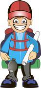 Stock Illustration of Backpacker