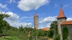 Green Tower, Dinkelsbuhl, Germany Stock Footage