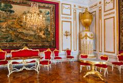 Interior of palace in Salzburg Austria - stock photo