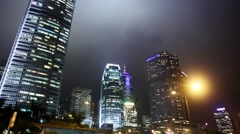International Commerce Centre.  Icc Building . Night Hong Kong - stock footage