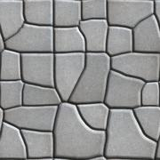 Gray Figured Paving Slabs of Different Value which Imitates Natural Stone - stock illustration