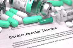 Diagnosis - Cardiovascular Disease. Medical Concept Stock Illustration