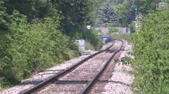 Stock Video Footage of Severe heat waves and warped railway tracks on hot summer day
