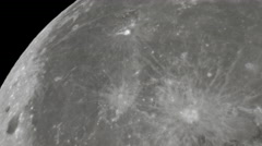 full moon craters schmidt cassegrain telescope - stock footage