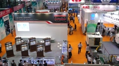 Stock Video Footage of The first Chinese intelligent equipment industry expo held in Shenzhen
