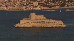Marseille - Chateau d'If - stock footage