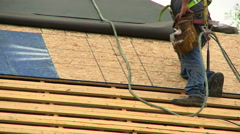 Stock Video Footage of Construction Roofing tool belt