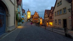 Plönlein, Rothenburg ob der Tauber, Germany Stock Footage