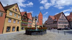Woernitz Tor Gate, Dinkelsbuhl, Germany Stock Footage