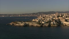 Marseille - Survol Corniche Stock Footage
