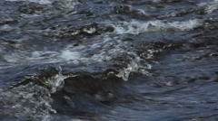 River Water Whitecaps - stock footage