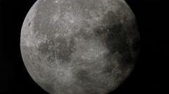 Full moon craters schmidt cassegrain telescope Stock Footage
