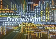 Overweight background concept glowing Stock Illustration