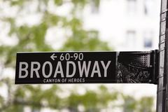broadway street sign - stock photo