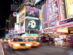 Broadway show advertisements Stock Photos