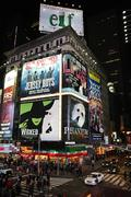 Broadway show advertisements - stock photo