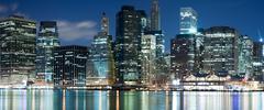 Manhattan panorama, New York City - stock photo