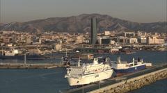 Marseille - Port Autonome 2 Stock Footage