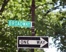 Broadway signpost New York City - stock photo
