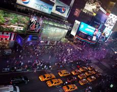 Times Square by night NYC - stock photo