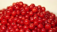 Stock Video Footage of Fresh juicy ripe red currant berries rotating