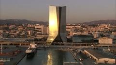 Marseille - Tour CMA - stock footage