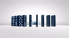 domino, effect, pieces, collapse, block, art - stock footage