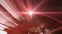 News style red globe 4 Stock Footage