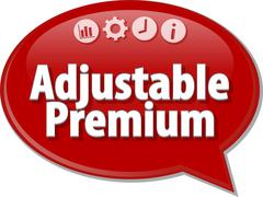 Adjustable Premium Business term speech bubble illustration - stock illustration