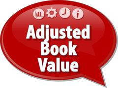 Adjusted Book Value Business term speech bubble illustration Stock Illustration