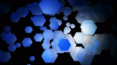Blue hexa motion Stock Footage