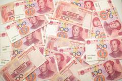 Chinese renminbi 100 bank note Stock Photos
