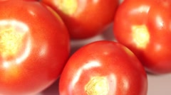 Close up of big fresh red tomatoes Stock Footage