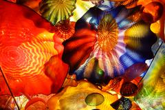 Abstract colors of blown glass - stock photo