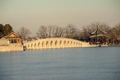 Seventeen Hole Bridge in Summer Palace - stock photo