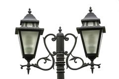 Stock Photo of Old style road lighting on the white background